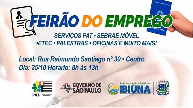 """""""FEIRÃO DE EMPREGO"""" ABRE OPORTUNIDADES PARA OS IBIUNENSES NESTA QUINTA-FEIRA"""
