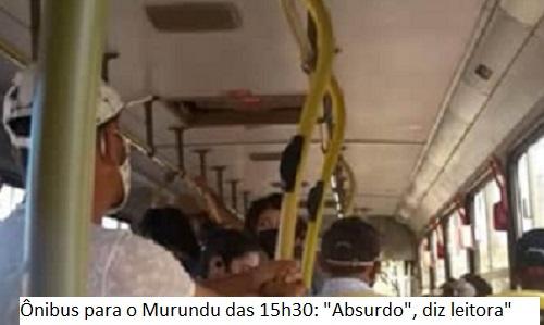 CORONAVÍRUS – LEITORA APONTA PERIGO DE CONTÁGIO EM ÔNIBUS PARA O MURUNDU