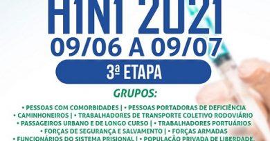 IBIÚNA INICIA NESTA 4ªFEIRA A TERCEIRA FASE DA CAMPANHA DE VACINAÇÃO CONTRA H1N1